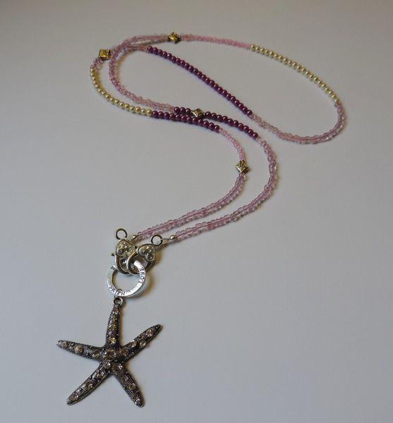 *Ilonas* lange Kette starfish von IlonasSchmuckstuebchen auf DaWanda.com, http://de.dawanda.com/product/78716271-Ilonas-lange-Kette-starfish