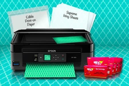 Epson Edible  Printer Kit , Newest Edible Printer - All In One ,Wireless ,Compact technology at a simply extraordinary value with included full set of edible inks and edible papers. Free Shipping