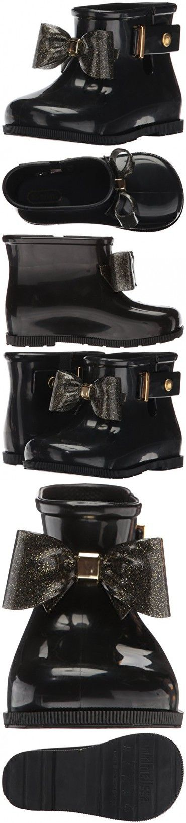 Mini Melissa Sugar Rain Bow Mary Jane (Toddler), Black, 10 Regular US Toddler