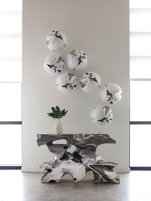Phillips Collection Gallery Root Wall Ball White Silver