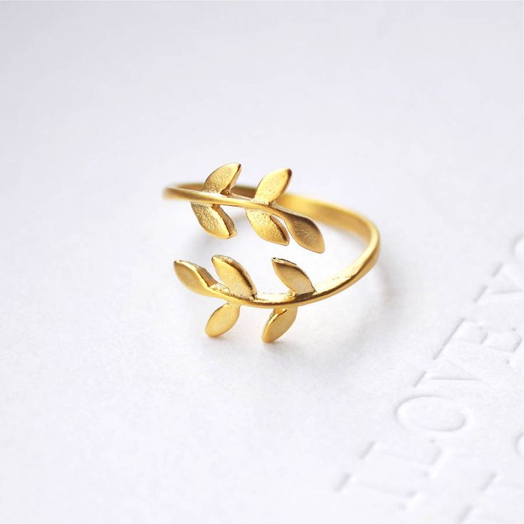 bay leaf ring in gold/silver by sarah & bendrix | notonthehighstreet.com