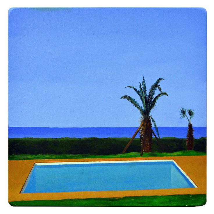 Ángel Padrón | Sin título | 2014 | Óleo sobre tela en madera | 50 x 50 cm.