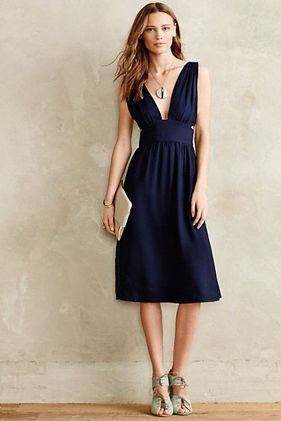 Anthropologie Silk Cut-Out Dress #anthrofav #greigedesign