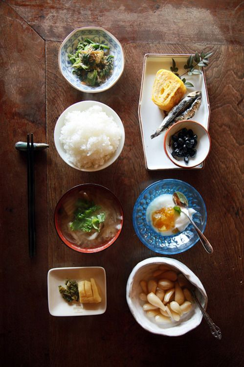 Japanese breakfast - I had a meal like this on my first morning in Japan :) //Manbo