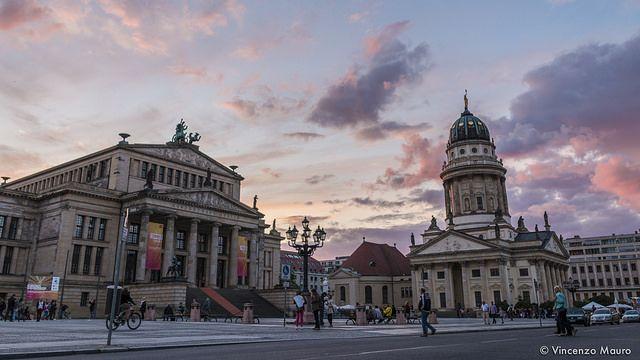 Gendarmenmarkt at sunset (Berlin 2014).