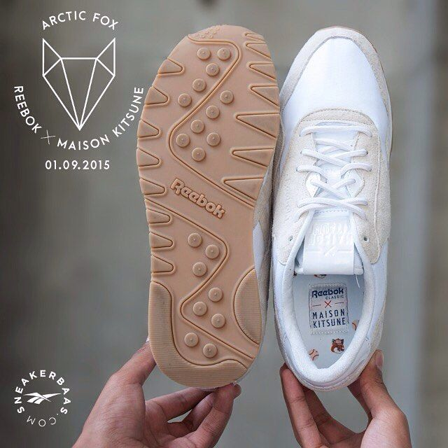 #reebok #maisonkitsuné #arcticfox #sneakerbaas #baasbovenbaas  Reebok X Maison Kitsuné 'Arctic Fox' -The classic England-based brand Reebok made one of the strongest collaborations with the French Maison Kitsuné. Only for the real connoisseurs!  Release 01.09.2015 00:01 AM !