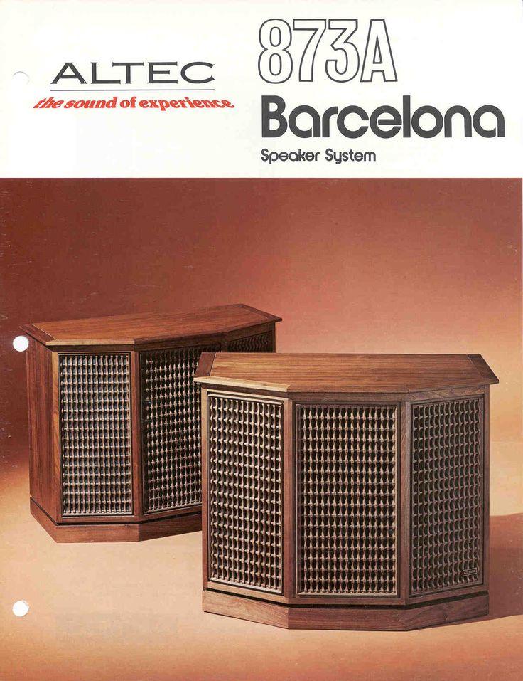 Altec Lansing Barcelona Speakers For Sale - US Audio Mart