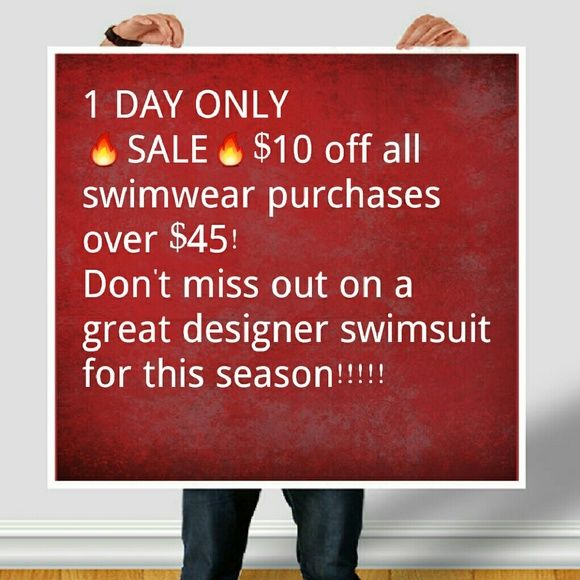 SWIMWEAR SALE! UP TO 80% OFF RETAIL. SWIMWEAR SALE! UP TO 80% OFF RETAIL. March 22, 2016 Only! Swim