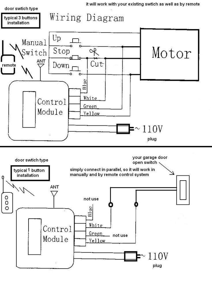 3 button garage door opener wiring diagram