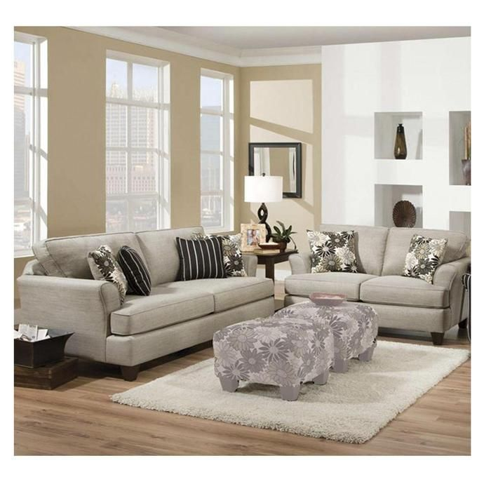 Contemporary Sofa and Loveseat in Mystery Stone | Nebraska Furniture Mart - 23 Best Images About Living Room Furniture Ideas On Pinterest
