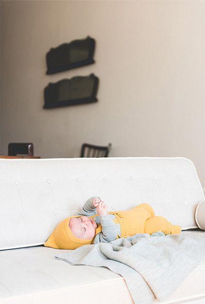 Vit läder Rizzy soffa DUX