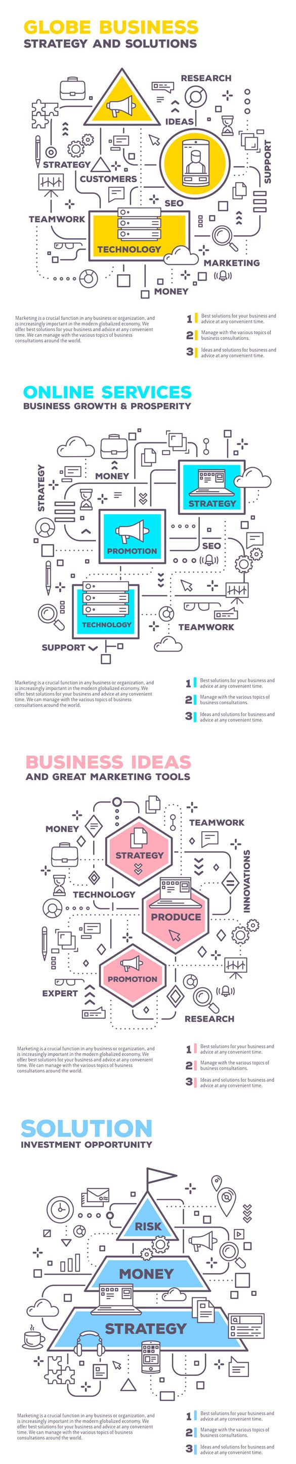 Set Of Templates Of Graphic Business Projects