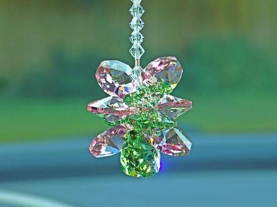 chakra green suncatcher green crystal car charm car decoration Crystal suncatcher crystal car charm rear view mirror peridot gift