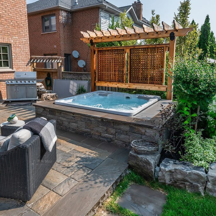 34 inspiring hot tub patio design ideas for your outdoor