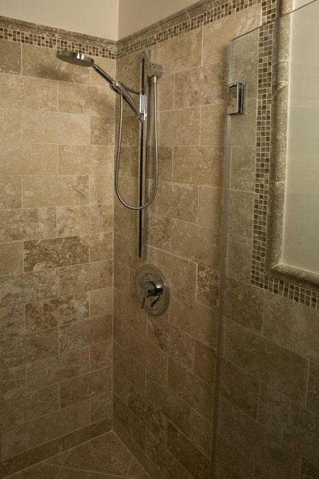 Bathroom, italian shower Travertin, douche italienne
