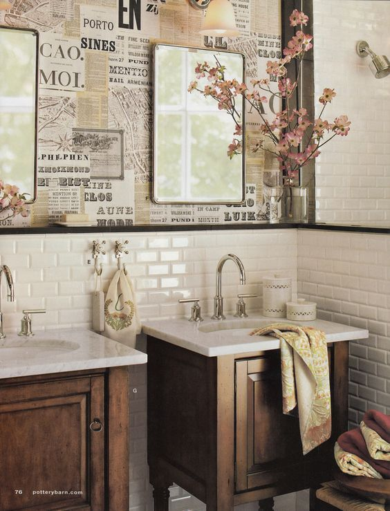 Newspaper Wallpaper on Pinterest | Newspaper Wall, Toilets and ...