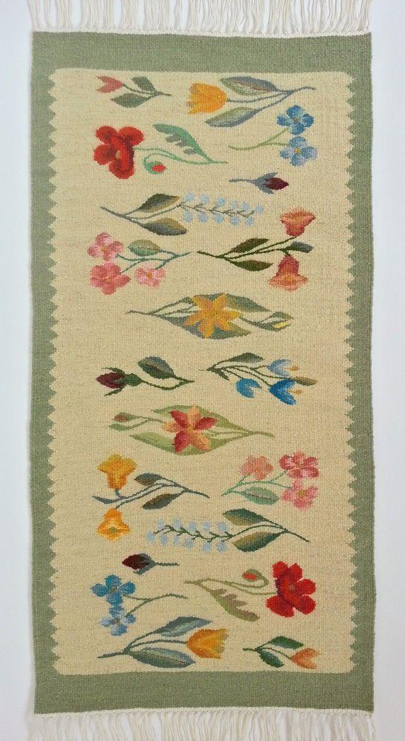 Handmade Wool Area Rug in Pale Colors Genuine Traditional Romanian Folk Art   eBay