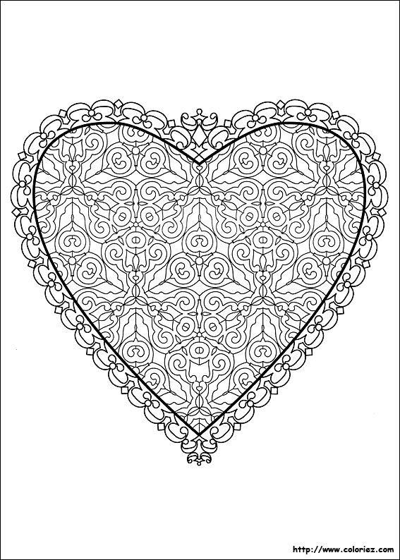 Mandalas para imprimir gratis pdf pesquisa do google desenhos para pintar pinterest - Mandala de coeur ...