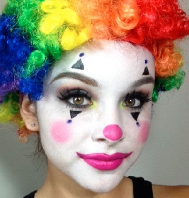 25 best ideas about cute clown makeup on pinterest mime for Face painting clowns for birthday parties