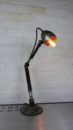 The Bike Desk Lamp - A fun themed design upcycled from recycled bike parts that ooze retro style. A new meaning to 're-cycling' no pun intended.