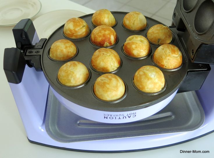 Pizza bites after cooking in Babycakes Cake Pop Maker