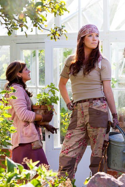 Klassieke Tuinbroek 'Rozen'' Gardengirl