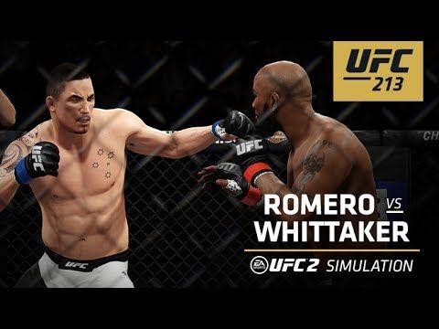 UFC (Ultimate Fighting Championship): UFC 213 | EA SPORTS UFC 2 Simulation – Romero vs Whittaker