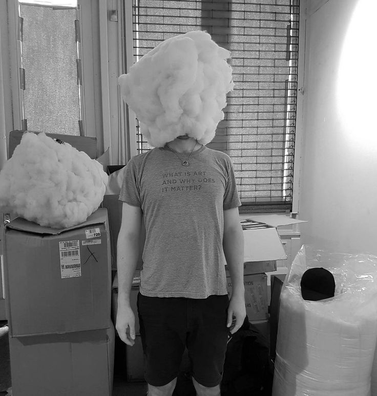 Head in the clouds.