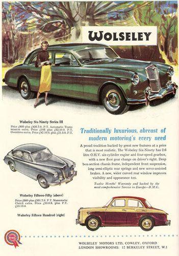 Wolseley Motors Car Advertisement