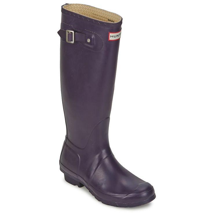 Μπότες βροχής Hunter ORIGINAL TALL AUBERGINE - Δωρεάν αποστολή στο Spartoo.gr ! - Παπούτσια Woman 119,00 €