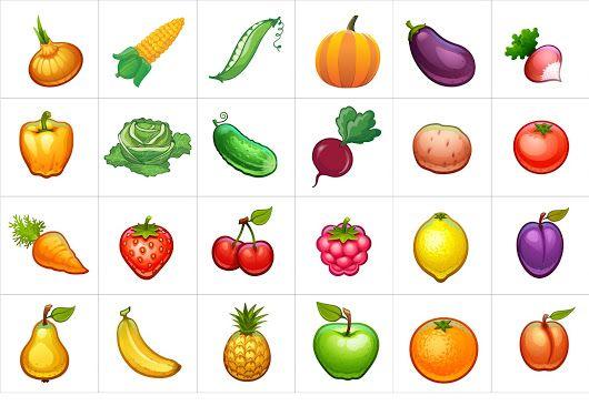 Умные карточки - овощи, фрукты | Овощи для детей, Овощи