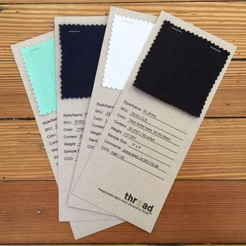 "Ground to Good Swatch Kit-You're picky about the fabrics you use in your products. You should be. That's why we created the Ground to GoodTM Swatch Kit. Each Kit contains 3""x 3"" swatches of every maker fabric available, so you can get a ""feel"" for each fabric.  And yes, the pun was intended."
