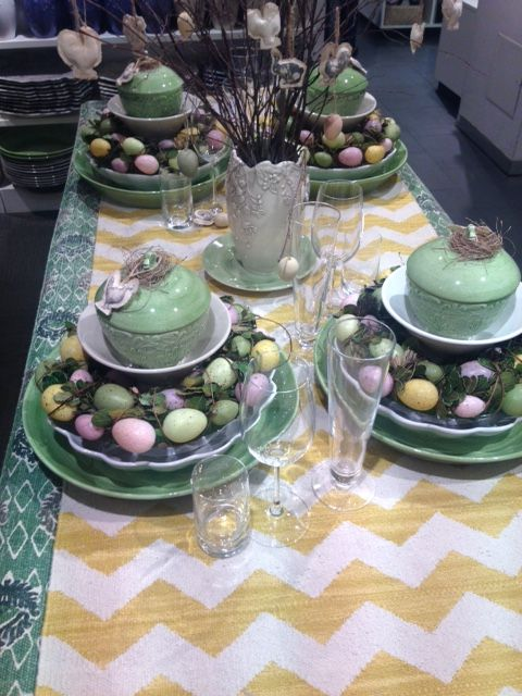 Another Beautiful Easter tablesetting from Åhlens city in Stockholm!