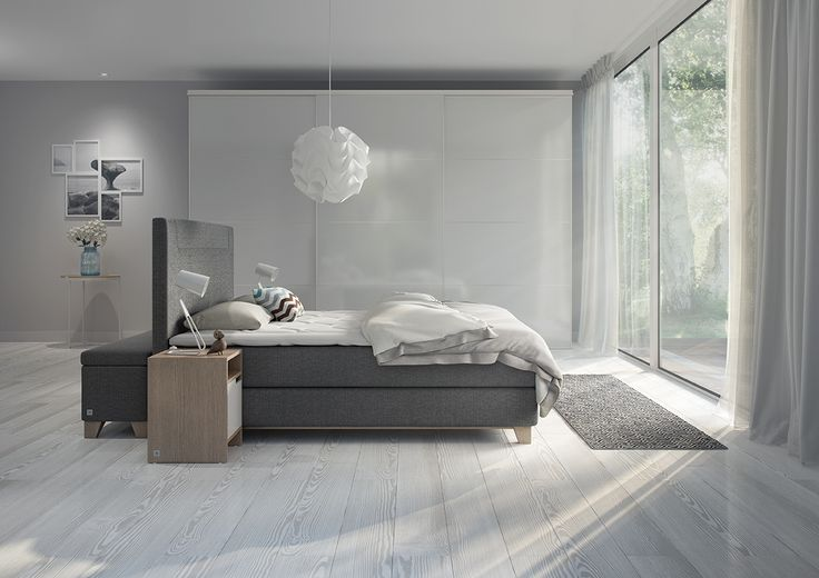Svane Zonic kontinentalseng i Nordic Dark Grey #svaneseng #svanebeds #svanezonic #soverom #interiør