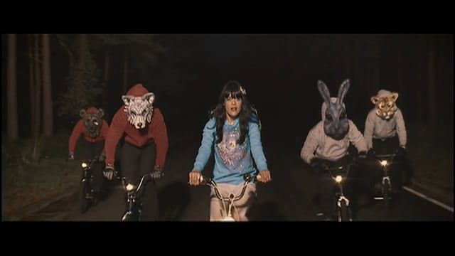 This Donnie Darko inspired single shot music video from the band Bat For Lashes, and directed by Dougal Wilson, was nominated for the MTV Europe Music Award for best video in 2007. https://en.wikipedia.org/wiki/Dougal_Wilson