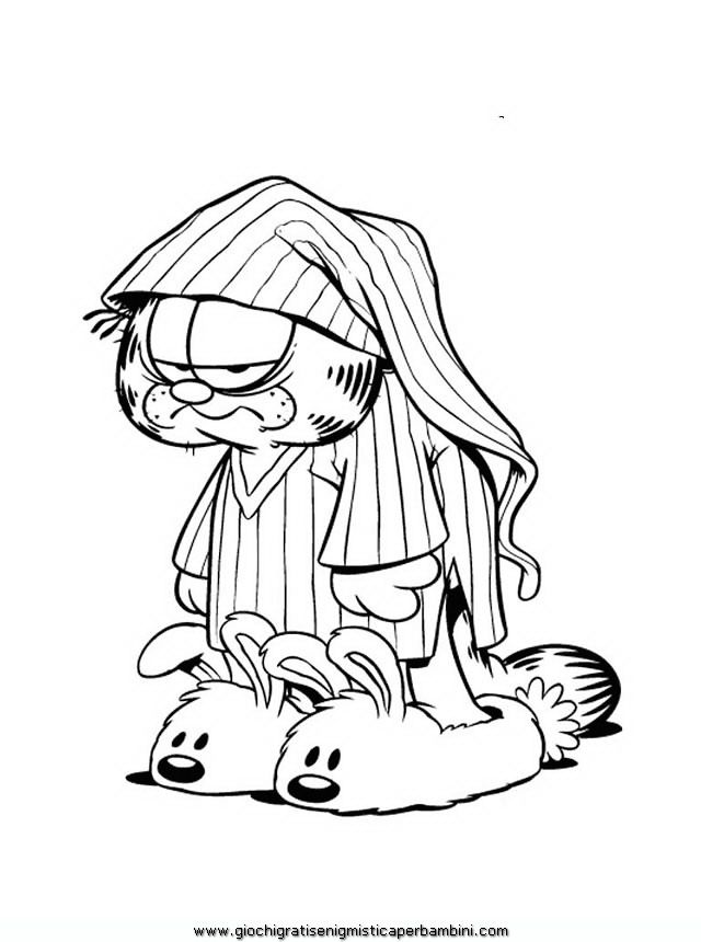 Garfield And Odie Coloring Pages