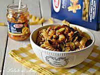 Fusilli con zucchine e pestato di verdure, primo piatto