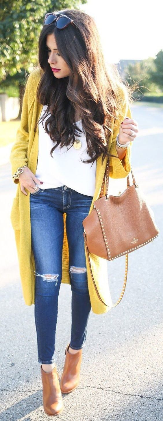 Best 25  Yellow cardigan outfits ideas on Pinterest | Mustard ...