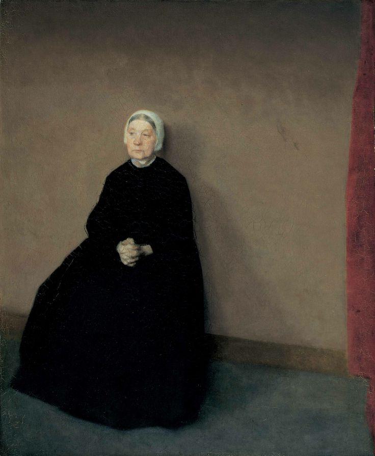 Vilhelm Hammershøi: An old lady, 1886. The Hirschsprung Collection
