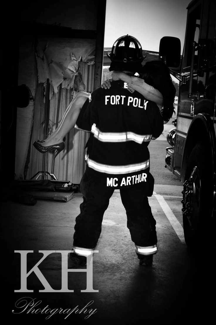 Such a fun session of engagement pictures!  #firefighter engagement pictures #engagement pictures #unique engagement pictures #picture ideas