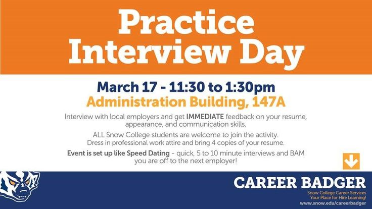 At our Practice Interview Day, you can receive immediate feedback on - resume building services