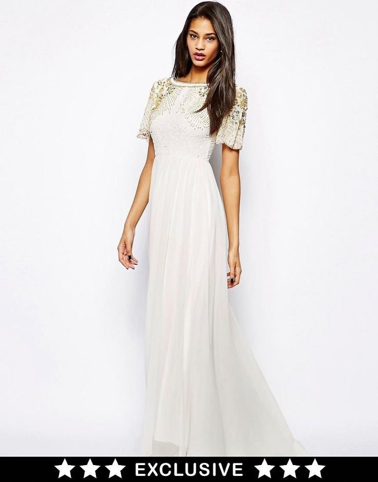 Virgos Lounge | Virgos Lounge Raina Maxi Dress with Embellished Shoulder at ASOS