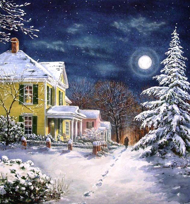 746 best Winter and Christmas painting images on Pinterest