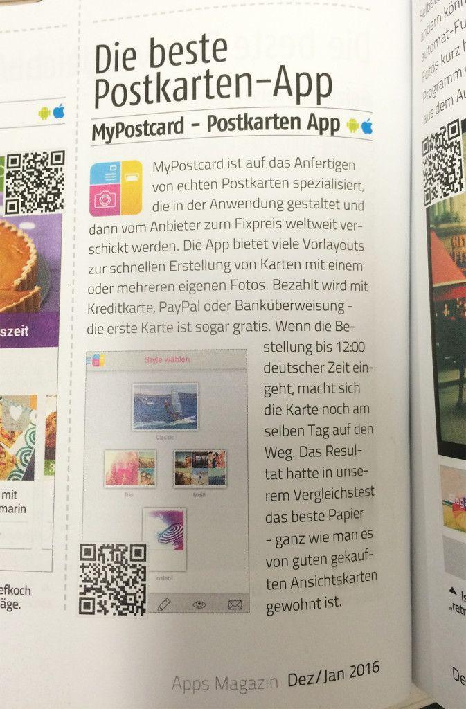 Beste Postkarten App Android iOS Magazin MyPostcard
