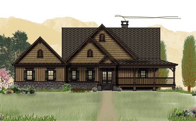 Open Floor Plan With Wrap Around Porch House Plans