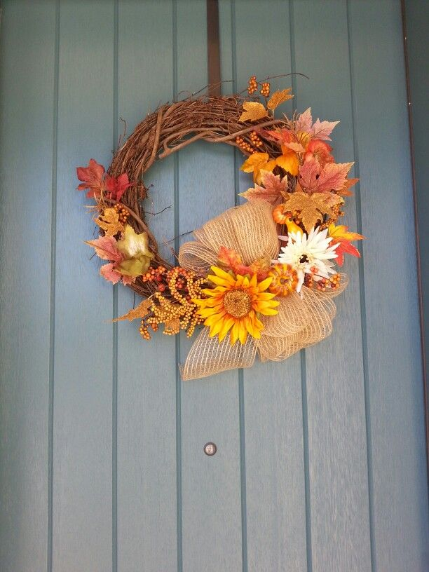 Autumn wreath #diy | this wreath comprises 6 pieces purchased from Michaels