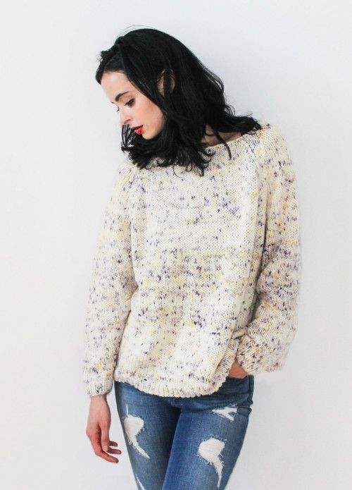 Sparkle Raglan Sweater | We Are Knitters