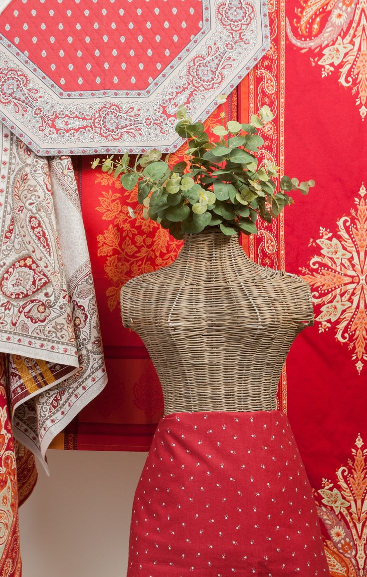 Chic Table Cloths - Almost Real Plants - Oriental Colours