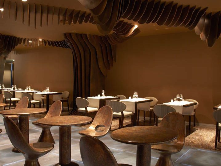 Terra Lounge at Hotel The Vine in Funchal, Madeira, Portugal designed by Roberto Bofill