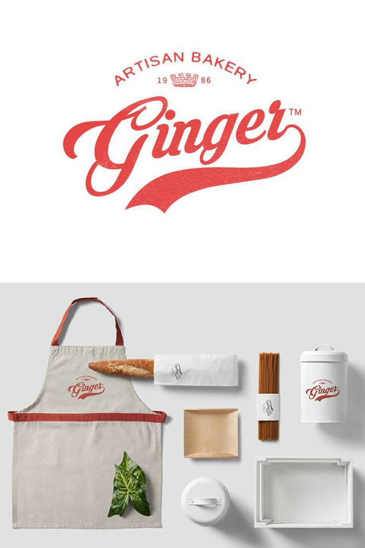 Visual brand identity - logo, packaging for a bakery inspired by vintage style.